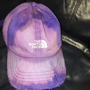 Nwt bleached & distressed NorthFace dad hat